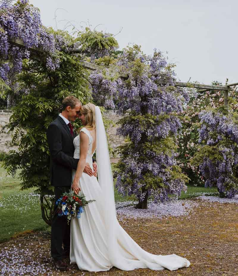 温顿城堡私密花园中的婚礼